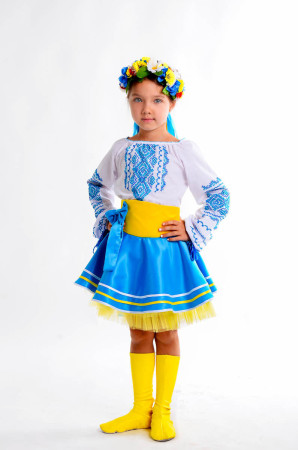 Костюм Украиночки желто-голубой